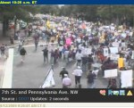 They had to close down Pennsylvania Avenue to accomodate the crowds wanting to get to the Mall.